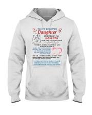 To My Beloved Daughter Hooded Sweatshirt tile