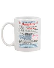 To My Beloved Daughter Mug back