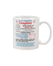 To My Beloved Daughter Mug front