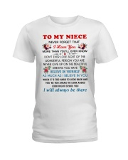 To My Niece Ladies T-Shirt thumbnail