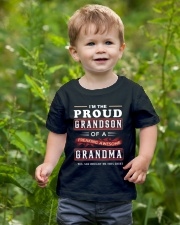 Proud Grandson - Grandma Youth T-Shirt lifestyle-youth-tshirt-front-3