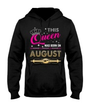 This Queen Was Born On 14TH Hooded Sweatshirt thumbnail