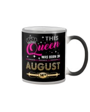 This Queen Was Born On 14TH Color Changing Mug thumbnail