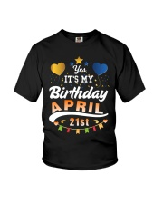 April 21st Birthday Gift T-Shirts Youth T-Shirt thumbnail