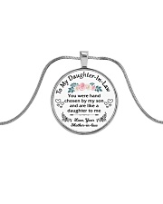 To My Daughter-In-Law Metallic Circle Necklace front