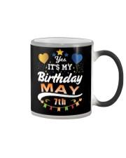 May 7th Birthday Gift T-Shirts Color Changing Mug tile