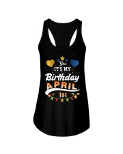 April 1st Birthday Gift T-Shirts Ladies Flowy Tank front