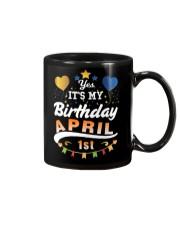 April 1st Birthday Gift T-Shirts Mug tile