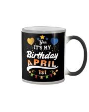 April 1st Birthday Gift T-Shirts Color Changing Mug tile