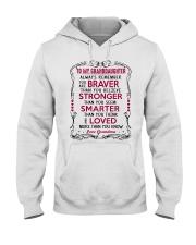 To My Granddaughter Grandma Hooded Sweatshirt tile