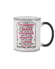 To My Granddaughter Grandma Color Changing Mug tile