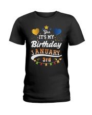 January 3rd Birthday Gift T-Shirts Ladies T-Shirt tile
