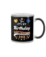 My birthday is September 24th T-Shirts Color Changing Mug tile