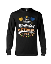 October 2nd Birthday Gift T-Shirts Long Sleeve Tee tile