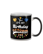 October 2nd Birthday Gift T-Shirts Color Changing Mug tile