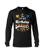 Birthday August 12th Long Sleeve Tee tile
