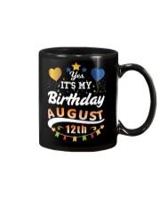 Birthday August 12th Mug tile