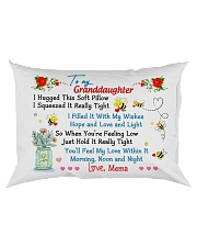 To my Granddaughter Hugged Mema Rectangular Pillowcase back