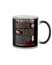 To My Daughter-In-Law Color Changing Mug tile