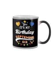 My birthday is September 4th T-Shirts Color Changing Mug tile