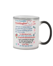 To My Granddaughter - Grandpa Color Changing Mug tile