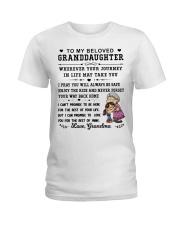 TO MY GRANDDAUGHTER Ladies T-Shirt thumbnail