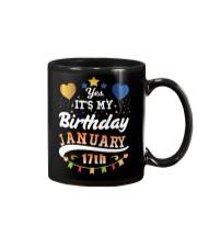 January 17th Birthday Gift T-Shirts Mug tile