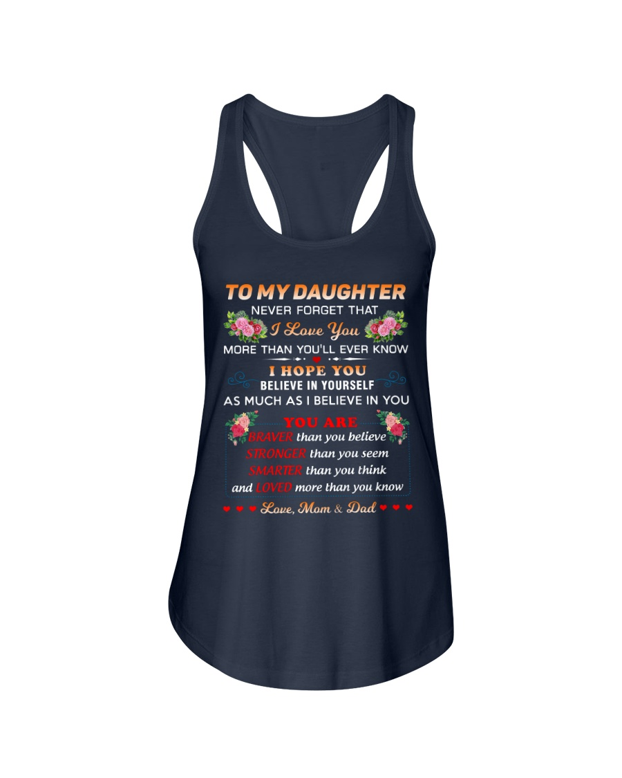 To My Daughter Ladies Flowy Tank