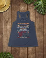 To My Daughter Ladies Flowy Tank lifestyle-bellaflowy-tank-front-6