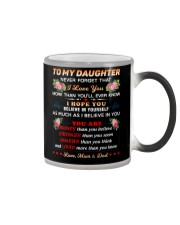 To My Daughter Color Changing Mug thumbnail