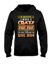 Warning Pop Pop Hooded Sweatshirt thumbnail