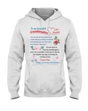 To My Beautiful Granddaughter Hooded Sweatshirt tile