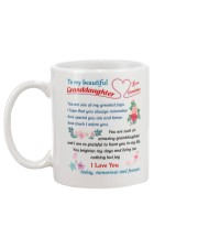 To My Beautiful Granddaughter Mug back