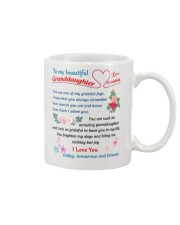 To My Beautiful Granddaughter Mug front