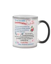 To My Beautiful Granddaughter Color Changing Mug tile