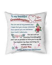 "To My Beautiful Granddaughter Indoor Pillow - 16"" x 16"" thumbnail"