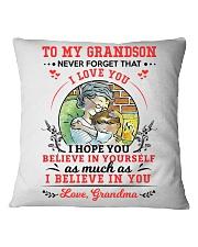 TO MY GRANDSON Square Pillowcase thumbnail