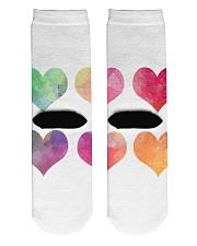 Colorful Heart Socks Crew Length Socks back
