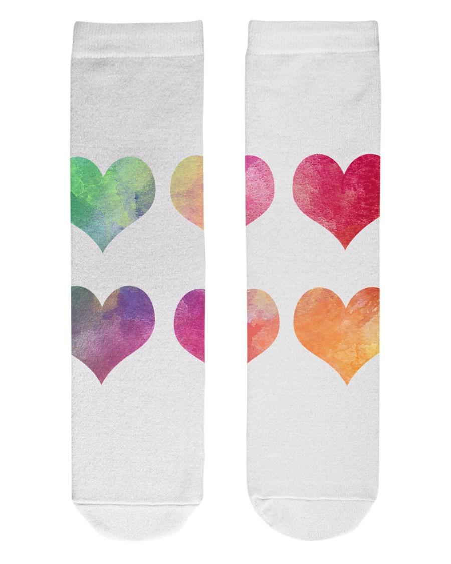 Colorful Heart Socks Crew Length Socks