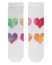 Colorful Heart Socks Crew Length Socks front