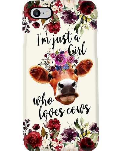 Just A Girl Who Loves Cows H12T4