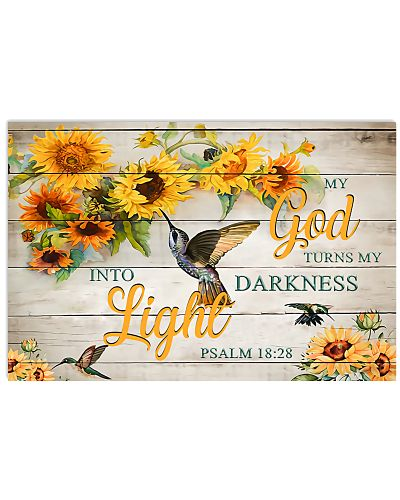 God Darkness Into Light Horizontal Poster YLT8