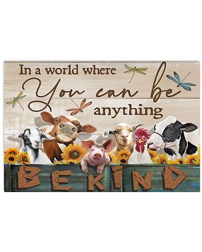 Be Kind Farmer Horizontal Poster YKH4