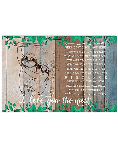 Sloths I love you Horizontal Poster YQD7