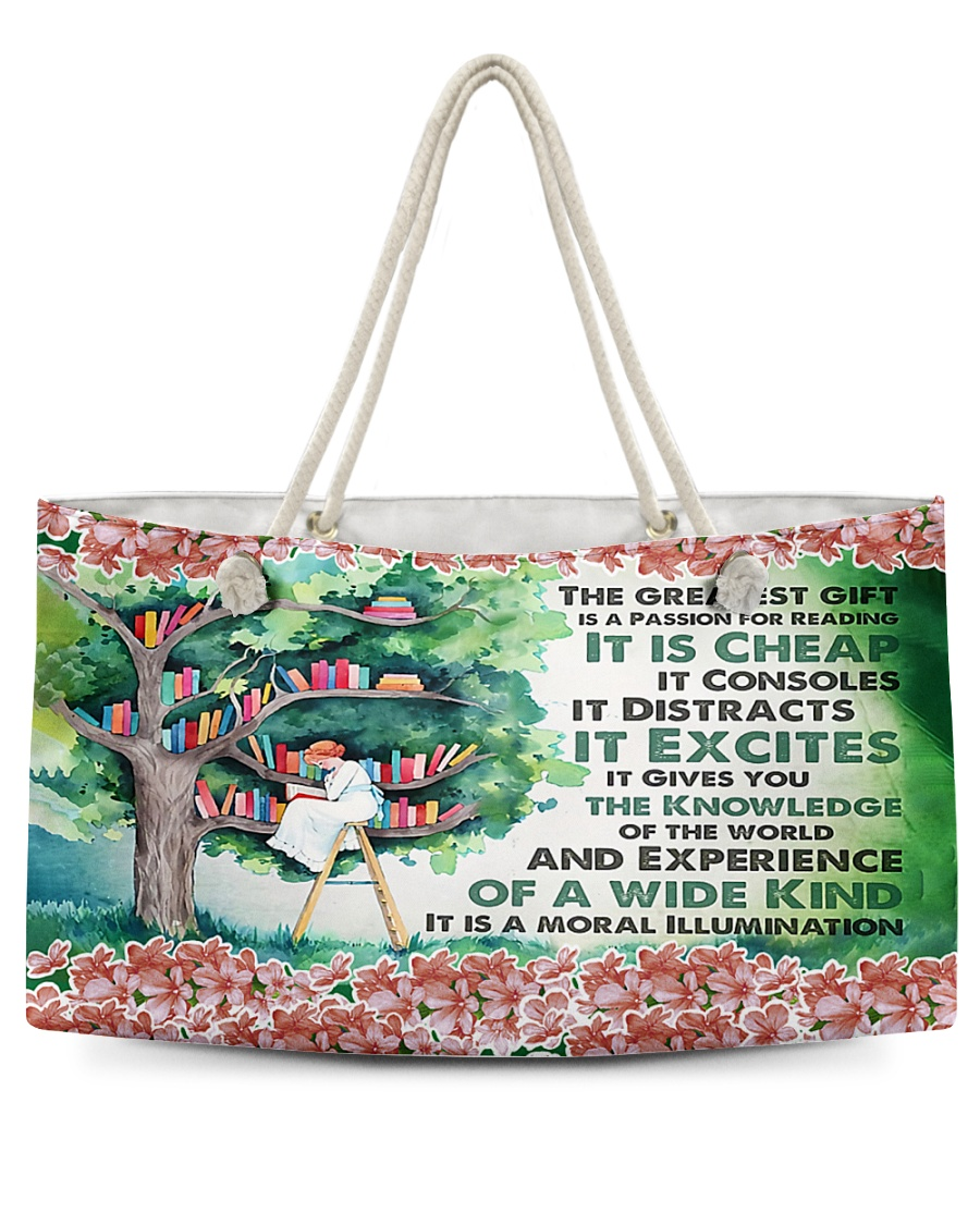 A Passion For Reading H22N8 Weekender Tote