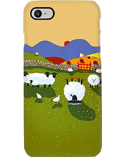Flock of Sheep n Chickens Phone Case QE25