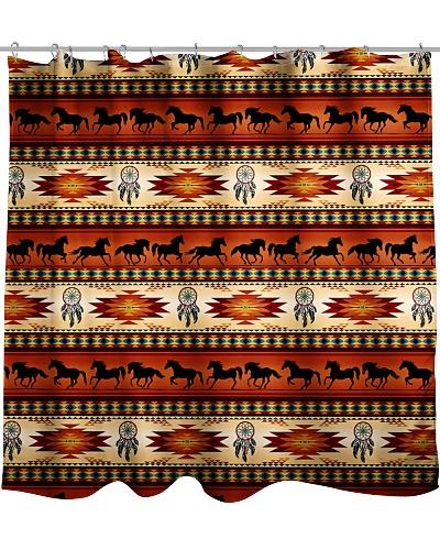 Native Horse Shower Curtain QE25