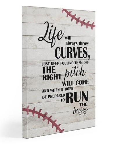 Baseball Life Vertical Canvas YLP8