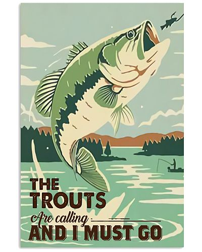 The trouts are calling Vertical Poster YLT8