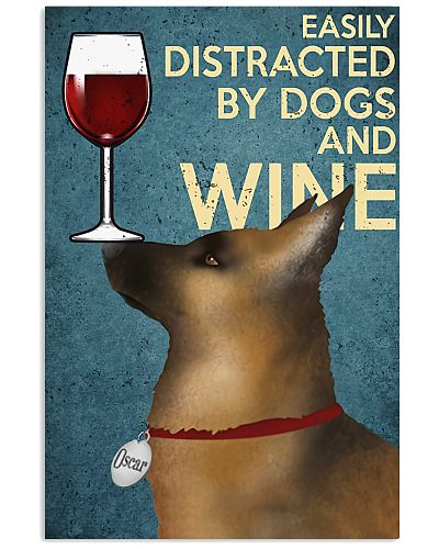 German Shepherd Wine Vertical Poster YBE9